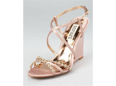 evening wedge sandals badgley mischka evening sandals gisele wedge in gold