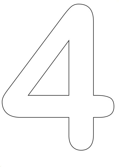 Number 4 Coloring Page Printable by Free Coloring Pages Of 4 4 4
