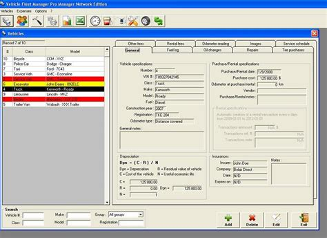 Vehicle Fleet Manager   Create maintenance schedule and
