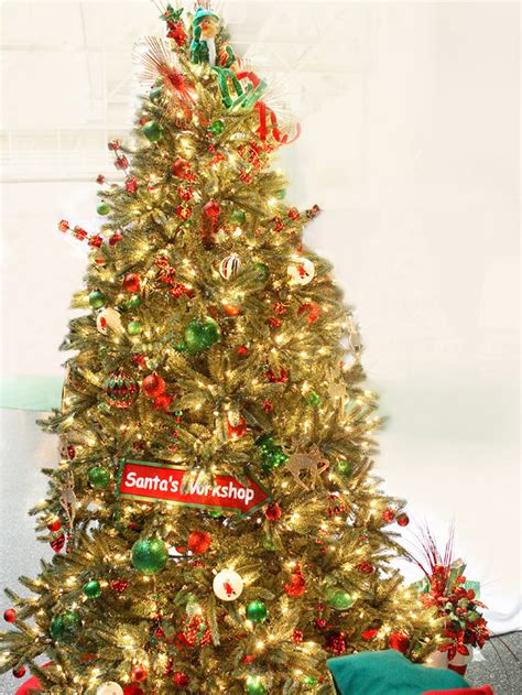 santas workshop christmas tree pictures photos and