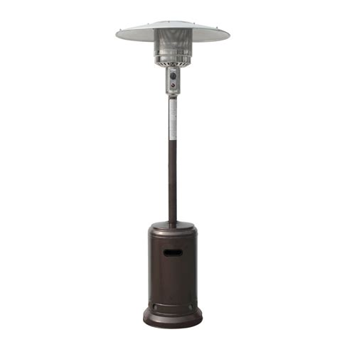 Palm Springs Outdoor Hammered Bronze Propane Gas Patio Garden Patio Heaters
