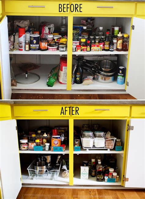 How To Organize Food In Kitchen Cabinets Get Organized Kitchen Cabinets A Beautiful Mess