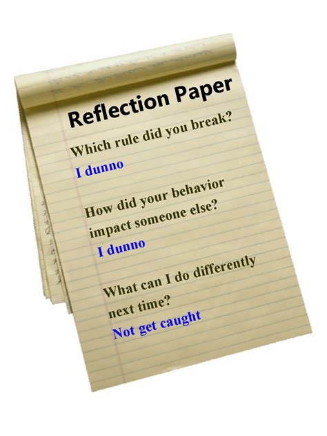 How To Make A Reflection Paper - tortorello and author reflecting on the