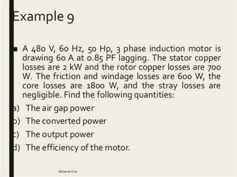 induction motor parameters electrical power systems induction motor