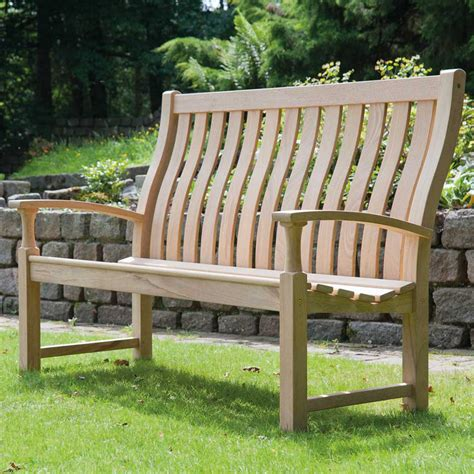 5ft garden bench roble santa cruz 5ft high back fsc garden bench from