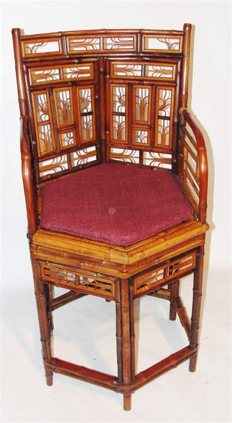 regency chinese export bamboo elbow chair  la