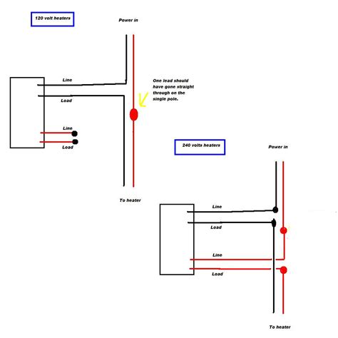 wall heater wiring diagram for 220v wiring diagram for