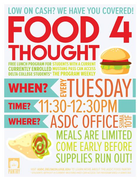 Food Pantry Flyer by San Joaquin Delta College Asbg Food Pantry