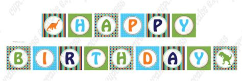 free printable dinosaur happy birthday banner dinosaur printable happy birthday banner