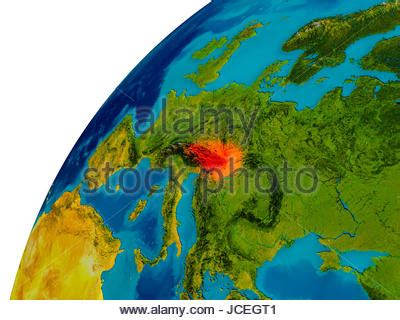 topographic map  austria  europe  cities federal