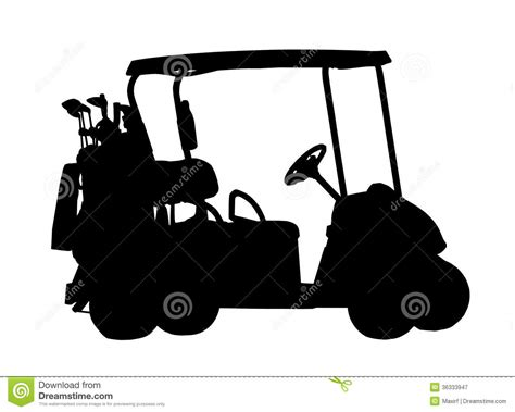 Silhouette Of Golf Cart Stock Vector Image Of Figure 36333947 Golf Cart Sign Template