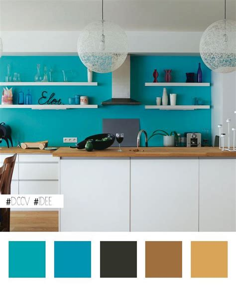 Mur Bleu Cuisine by Id 233 E Maline 233 Gayer Une Cuisine Blanche En Peignant Le Mur