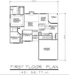 House Plans With Garage In Basement 1421sf Ranch House Plan W Garage On Basement