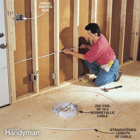 how to install electrical wiring in a house how to rough in electrical wiring family handyman