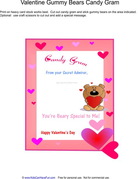 8 best images of printable valentine s candy grams