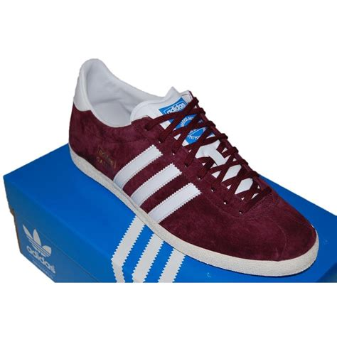 maroon adidas shoes adidas originals gazelle og light maroon mens shoes from