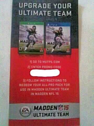 Ultimate Gift Card Coupon Code - free madden 15 ultimate team promo code video game prepaid cards codes listia
