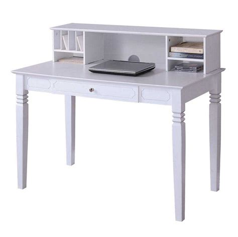 White Wood Desks Painting White Hutch Desk