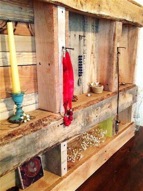 pallet jewelry rack  storage shelves