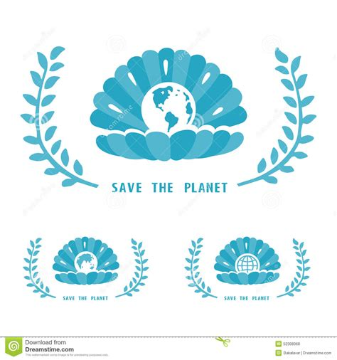 eps format save save the planet symbol stock vector image 52308068
