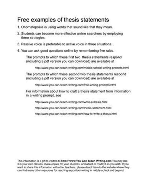 exle of thesis statement for research paper thesis statement exles for research papers source