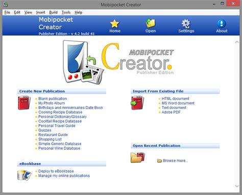 mobipocket ebook format letöltés top 7 best free ebook creator software for windows