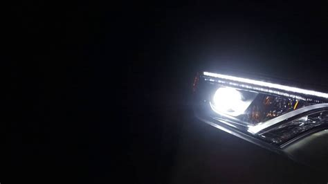 2017 rav4 daytime running lights 2016 rav4 led headlights youtube