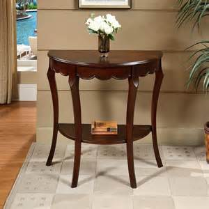 Half Circle Entry Table All Things Cedar Hr014 Half Moon Console Table Lowe S Canada