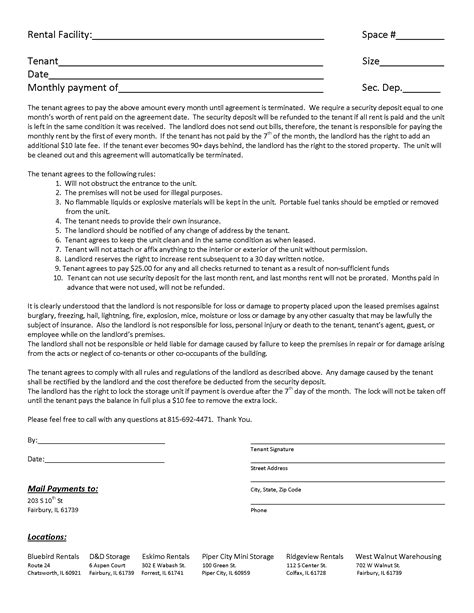 basement rental agreement form images frompo 1