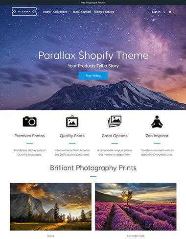 shopify themes parallax 100 premium shopify themes for ecommerce stores