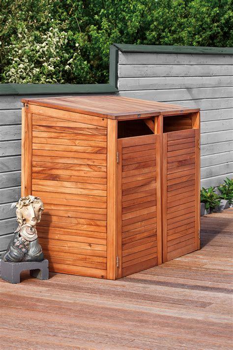 hardwood wheelie bin store