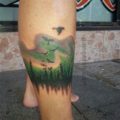 aurora borealis tattoo borealis search ideas