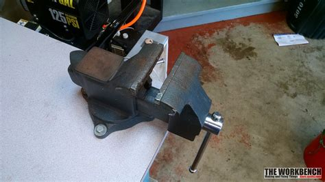 how to mount a bench vice craftsman vise bench mounting the workbench