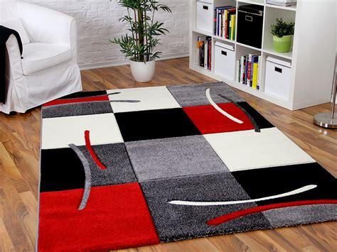 teppich grau rot designer teppich rot grau karo teppiche