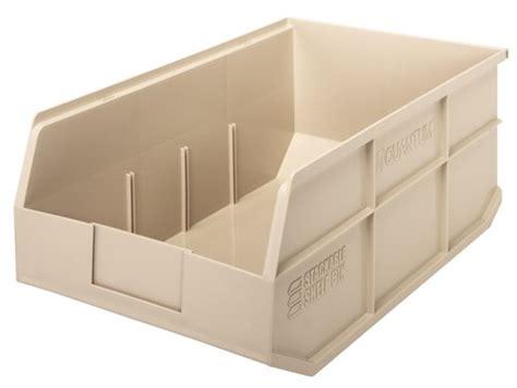 plastic stackable shelf storage bin ssb465 18 quot x 11 quot x