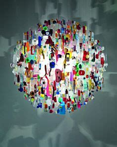 Stuart Haygarth Beautiful From Waste by Stuart Haygarth Tide Chandelier Plastic Collected From