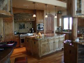 crafted knotty alder custom made kitchen cabinets