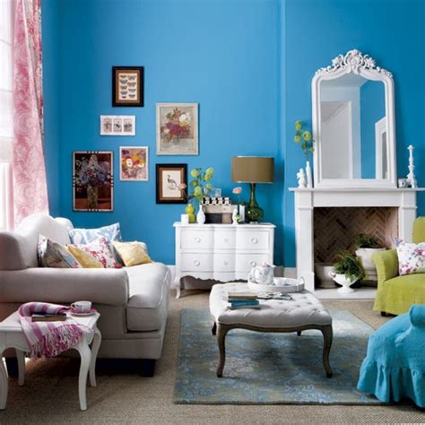blue walls in living room bold blue living room modern living room housetohome co uk