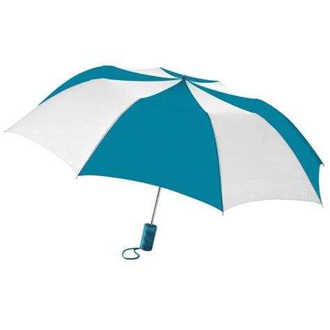 promotional folding umbrellas personalized in bulk 2 tone