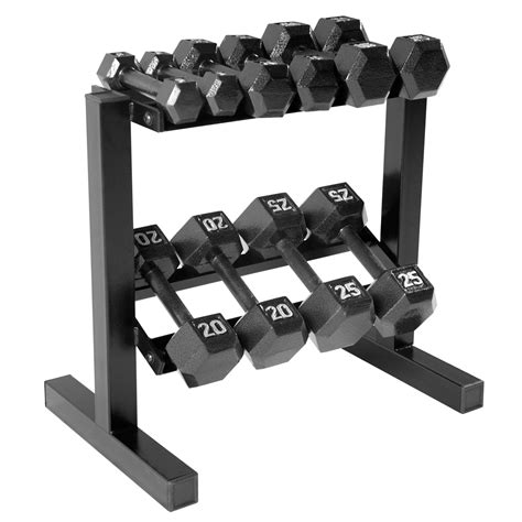 Dumbbell Rack With Weights by Cap Barbell Hex Dumbbell Set With Rack 150
