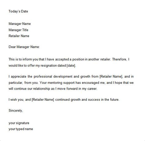 10 two weeks notice letter templates free word pdf documents
