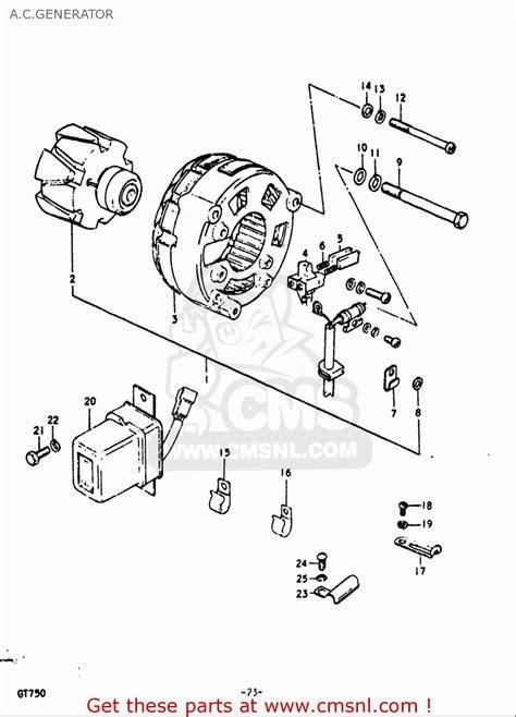 Suzuki Gt750 Parts List Suzuki Gt750 1972 J Usa E03 A C Generator Schematic