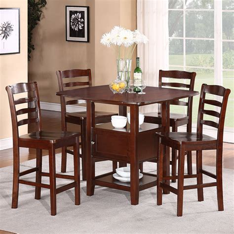 contemporary kitchen 5pc dining set with storage