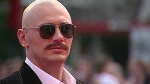 celebrities having moustaches with bald head james franco sports elizabeth taylor and montgomery clift