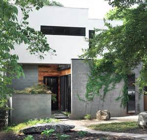 Semi inground pools exterior modern with concrete block house green
