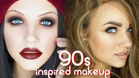 up 90s 90s grunge supermodel glam makeup tutorial