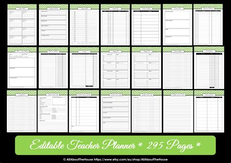 weekly planner printable editable editable chevron printable teacher planner