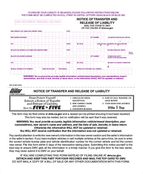 8 Sle Liability Release Forms Sle Templates Release Of Liability Form Template California