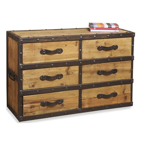 Rustic Wood Dressers by Lambert Reclaimed Wood Rustic Iron Hardware Occasional Dresser Kathy Kuo Home