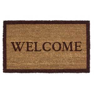 welcome mats imports unlimited simply welcome entry mat coir 18x30 quot save 36